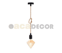 ACA LIGHTING 40BRR ROPE VINTAGE