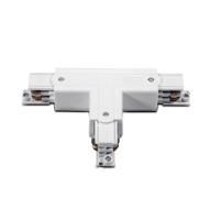 Т-образен конектор за трифазна тоководеща шина ACA LIGHTING 4WTW БЯЛ