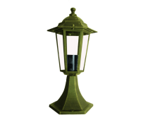 ACA LIGHTING HI6023GB HEXAGON BOLLARD GARDEN
