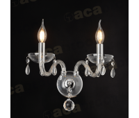 ACA LIGHTING BLK82042WCC CRYSTAL