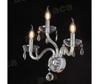 ACA LIGHTING BLK82043WCC CRYSTAL