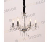 ACA LIGHTING BLK82046PCC CRYSTAL