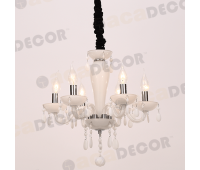 ACA LIGHTING BLK82046PWC CRYSTAL