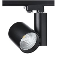 LED прожектор за трифазна шина ACA LIGHTING RONDE3030B4 BLACK THREE PHASE