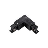 Г-образен конектор за трифазна тоководеща шина ACA LIGHTING 4WLB ЧЕРЕН