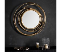 Gallery Direct 5016087895229 Allende Mirror Satin Gold