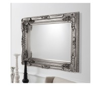 Gallery Direct 5055299406342 Carved Louis Mirror Silver