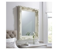Gallery Direct 5055299411841 Carved Louis Mirror Cream