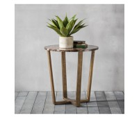 Gallery Direct 5055999224192 Emperor Round Side Table Marble
