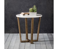 Gallery Direct 5055999224253 Cleo Round Side Table Marble