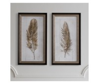 Gallery Direct 5055999238359 Autumn Feather Set of 2pc.