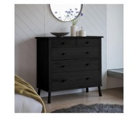 Комод Gallery Direct 5056263946130 Wycombe 5 Drawer Chest Black