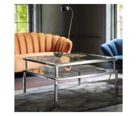 Маса за кафе Gallery Direct 5056315930605 Salerno Coffee Table Silver