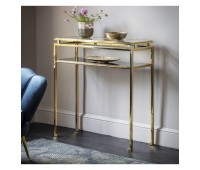 Помощна маса Gallery Direct 5056315930643 Cosenza Console Table Gold