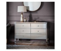 Комод Gallery Direct 5056315932449 Cutler 6 Drawer Mirrored Chest