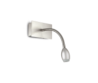 LED аплик Ideal Lux 031453 Orson AP1 Satin Nickel