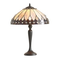 Настолна лампа INTERIORS 1900 TIFFANY 63982 BROOKLYN TL BRASS