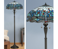 Лампион INTERIORS 1900 TIFFANY 64069 BLUE DRAGONFLY