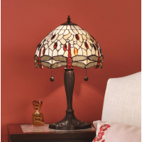 Настолна лампа INTERIORS 1900 TIFFANY 64086 BEIGE DRAGONFLY