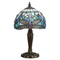Настолна лампа INTERIORS 1900 TIFFANY 64088 BLUE DRAGONFLY