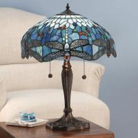 Настолна лампа INTERIORS 1900 TIFFANY 64089 BLUE DRAGONFLY