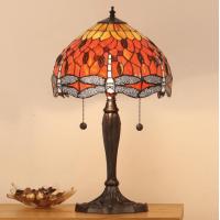 Настолна лампа INTERIORS 1900 TIFFANY 64092 FLAME DRAGONFLY