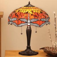 Настолна лампа INTERIORS 1900 TIFFANY 64093 FLAME DRAGONFLY