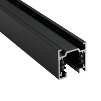 Трифазна тоководеща шина за открит монтаж POLARIS LIGHTING PL0069-1 BLACK TRACK SQR OM Three-phase track 1m. Black