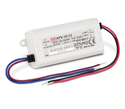 LED трансформатор Meanwell APV-16 12V 16W