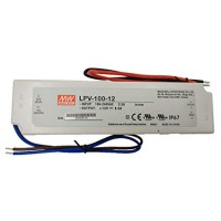 LED трансформатор Meanwell LPV-100 12V 100W IP67